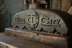Steampunk Industrial Antique Twin City Farm Tractor Radiator Lamp / Lamp #1505 - SOLD