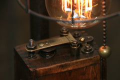 Steampunk Industrial Lamp / Antique Ford Model T Ignition Coil / Gear / #1885