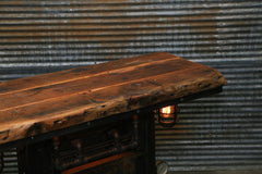 Steampunk Industrial Table / Antique Boiler Furnace Door / Barnwood / Table #2010 sold