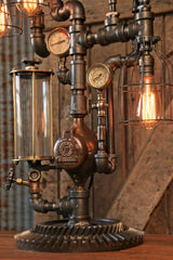 Steampunk Industrial / Table / Gear / Steam Gauge / Mass #1433 sold