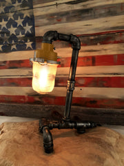 "Steampunk Industrial / Antique Runway Light  / ""tail dragger"" /  Airplane / Aviation / #dc130"