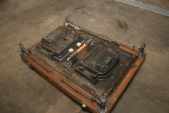Steampunk Industrail / Boiler door / Barnwood / Lighting / Coffee Table / #2435