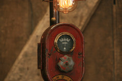 Steampunk Lamp, Antique Farmall Tractor Dash Farm Lamp #1932