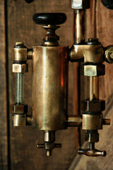 Steampunk, Industrial, Antique Railroad Gauge Lamp and Oiler  #739