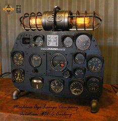 Steampunk / Vintage p-51 Instrument Panel Lamp / Aviation / Airplane / WW2 / #CC51