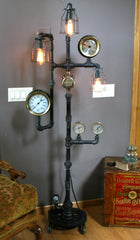 Steampunk Industrial Steam Gauge Floor Lamp #60