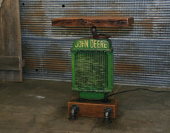 Antique Steampunk Industrial Table Stand, Hostess Station, Pub Table, Reclaimed Wood Top,John Deere #2057