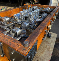"Industrial / ""Pub"" Height 42"" / Carroll Shelby 427 FE Engine / Table Ford Shelby / Automotive / Table #3301"