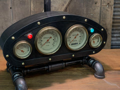 Steampunk Industrial / Antique Vintage Gauges / Automotive  / Rat  Hot rod / Lamp #3186 sold