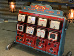 Steampunk Industrial / Antique Sun Engine Analyzer / Automotive / Barn wood Table / #2453 sold
