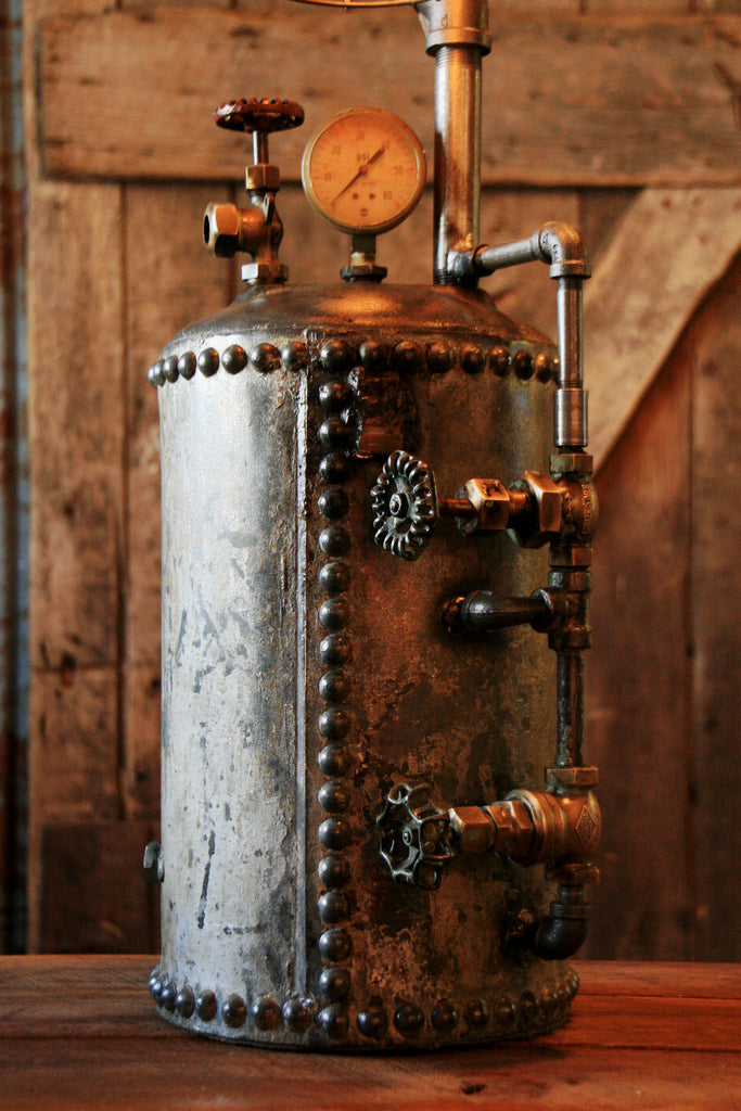 Steampunk Industrial Antique Hot Water Expansion Tank