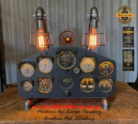 Airplane / Aviation / Fairchild PT-26 Instrument Control Panel Lamp / #cc62