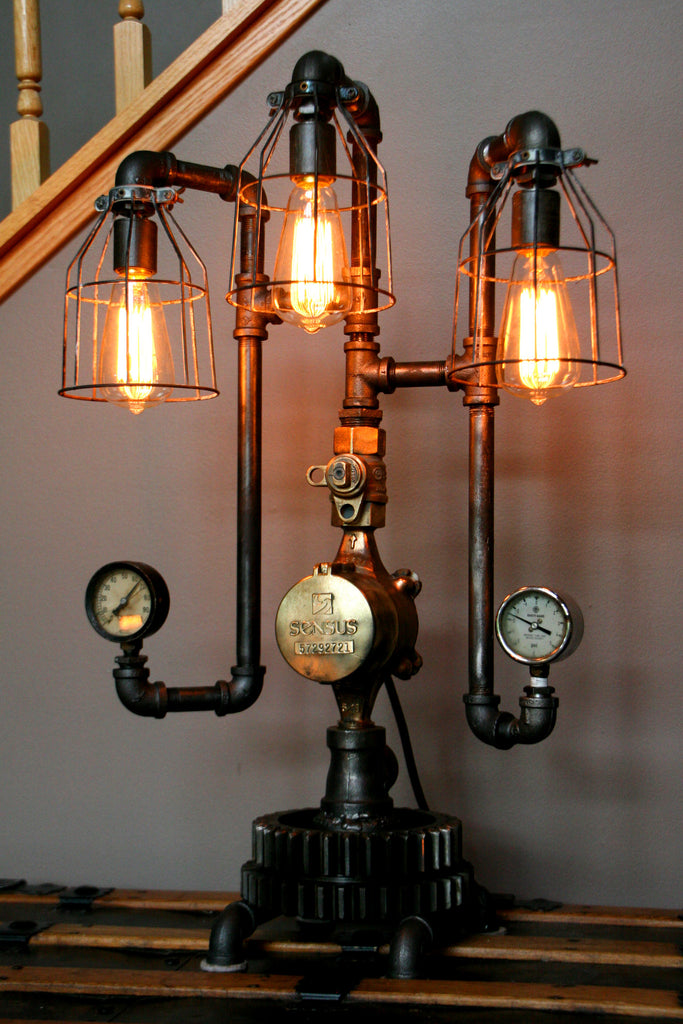Machine Age Steampunk Steam Gauge Lamp #61 - SOLD