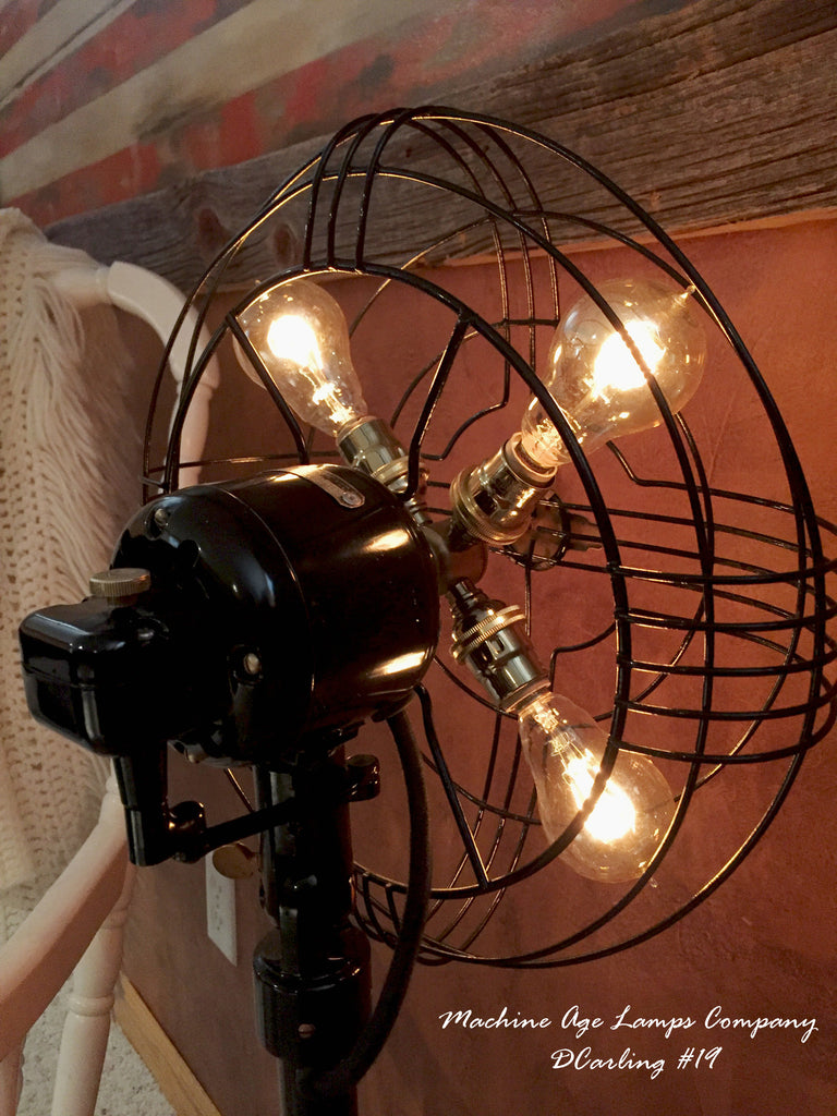 Steampunk Vintage Art Deco Ge Floor Fan Lamp Light Dc19