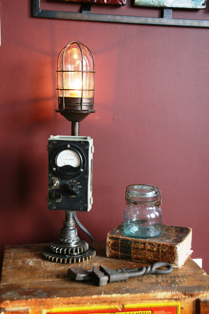 Military Volt Meter Gear Lamp - SOLD