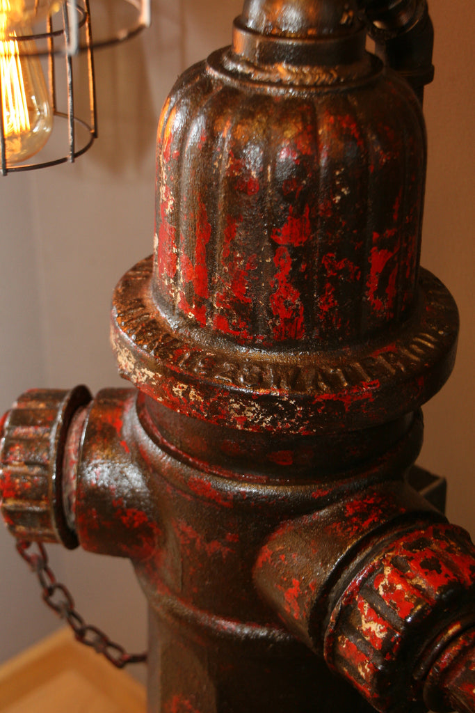 Industrial 1923 Antique St Paul Fire Hydrant Floor Lamp
