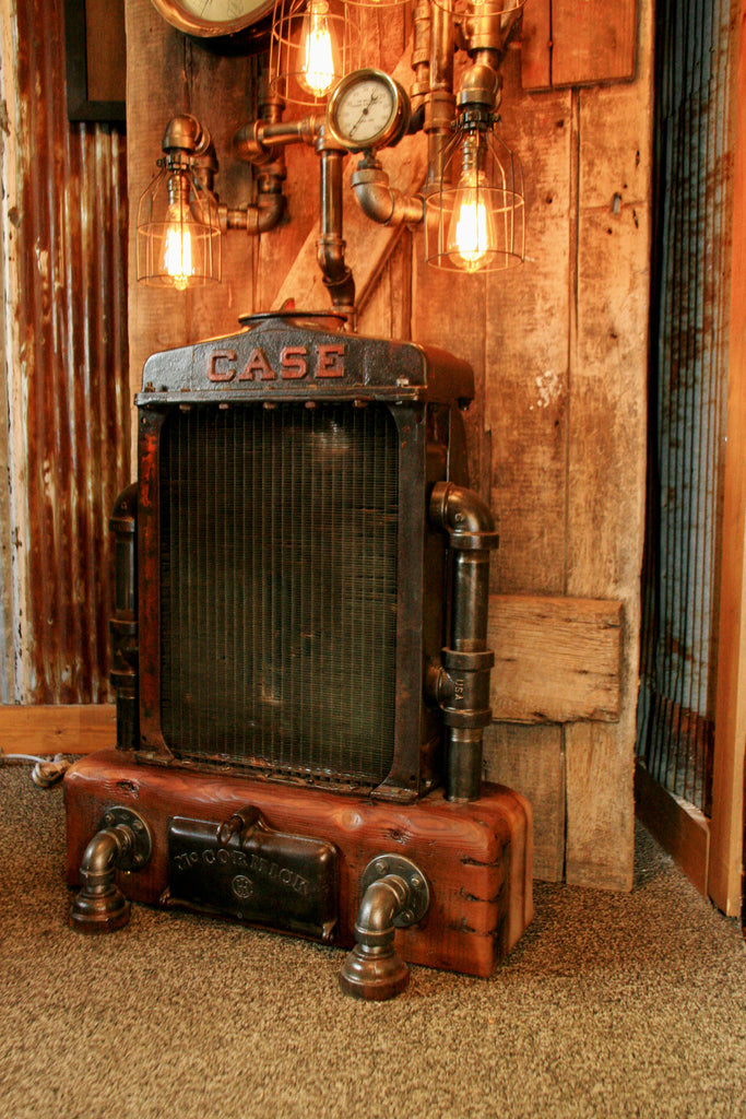 Steampunk Industrial Antique Case Radiator Floor Lamp