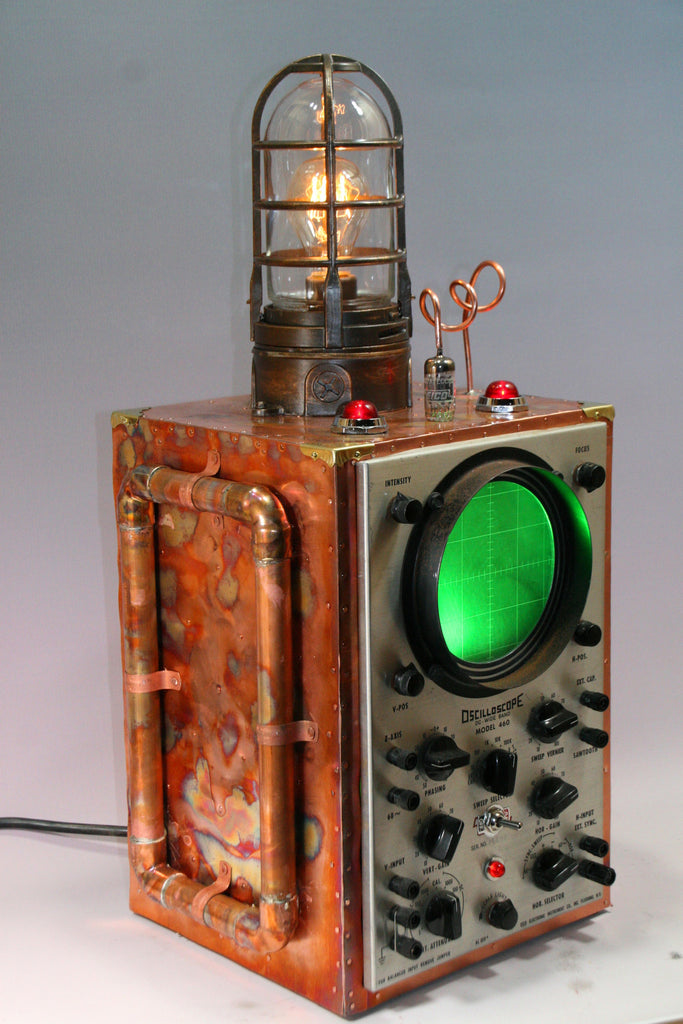 Steampunk Machine Age Submarine Sonar Oscilloscope - SOLD