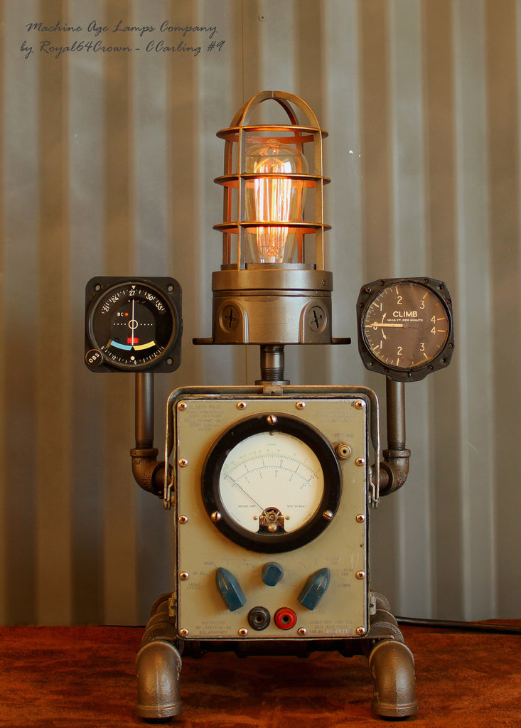 Steampunk Lamp Aviation Aircraft Instrument Repurposed #CC9