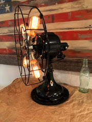 Steampunk Industrial Fan / Antique Robbins & Myers Fan / Deco / Lamp #DC107