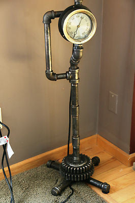 Plumbing Steam Gauge Floor Lamp Quot The Tucker Quot Sold