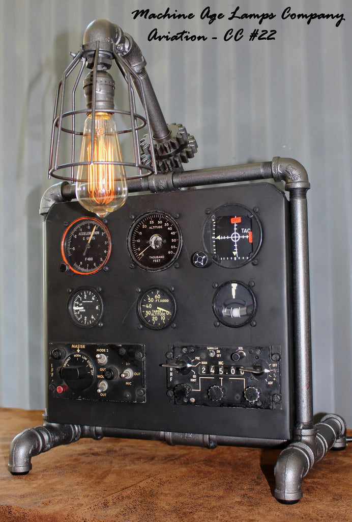 Steampunk Machine Age Aviation Lamp Instrument Control