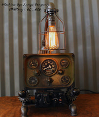 Steampunk Machine Age Aviation Lamp Willys Jeep Military Air Plane #CC26 ON HOLD