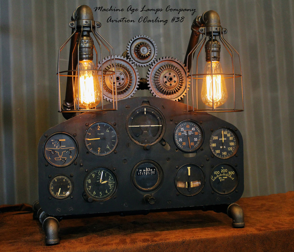 Vintage world war ii military aircraft instrument control for Aviation decoration ideas