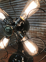 Steampunk Industrial Fan Lamp / Antique Robbins & Myers Fan  / Lamp #1820 sold