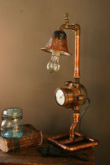 Antique Water Meter Lamp - SOLD