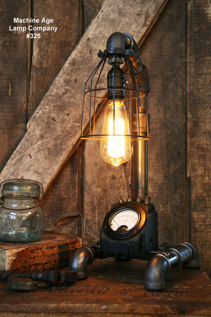 Steampunk Lamp,  Industrial Power Meter  #325 - SOLD