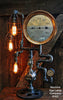 Steampunk Lamp, Steam Gauge Industrail Lighting #163 - SOLD