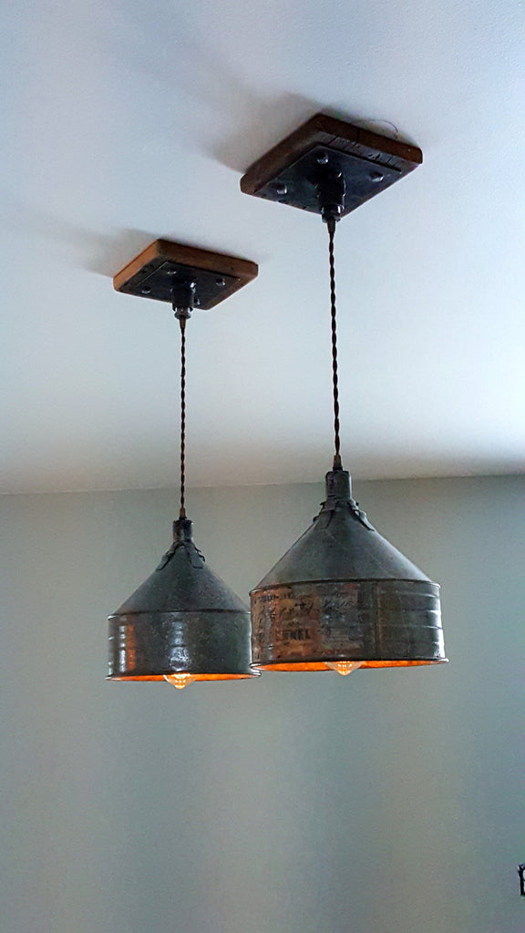 Steampunk Industrial Farm Funnel Ceiling Light Pendant Hanging #1260