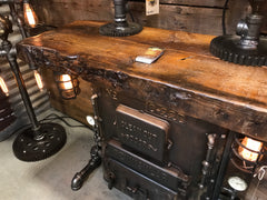 Steampunk industrial / Stove Boiler Door Table / Peninsular / Table Sofa Hallway / #1650 - sold