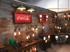 Steampunk Industrial Wall Sconce Coke Sign Lamp #2001 sold