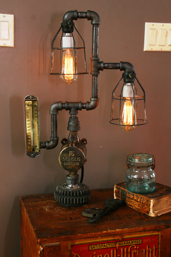 Brass Steam Gauge Meter Lamp - SOLD