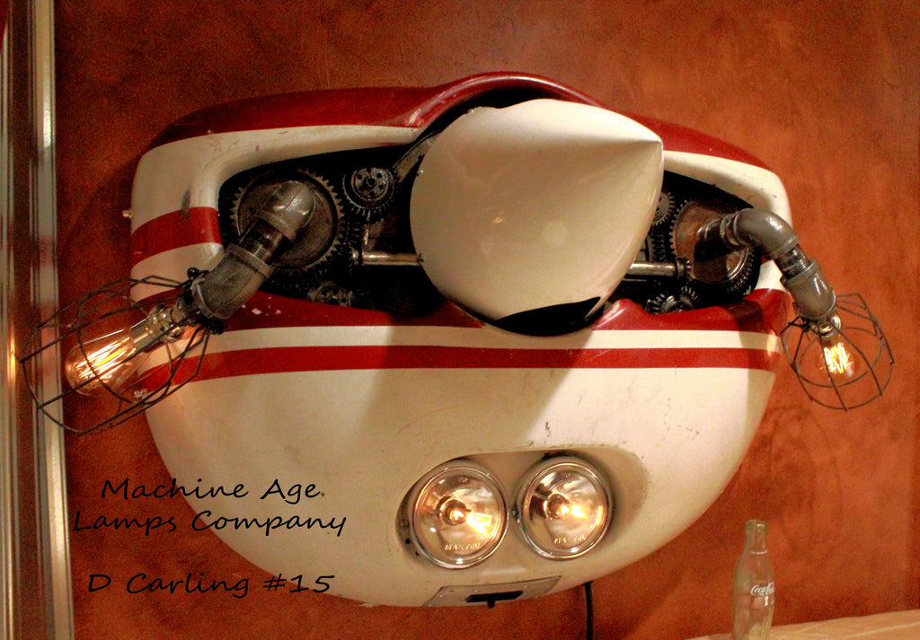 Aviation Airplane Cessna 152 engine cowling wall sconce lamp light, # DC15 - SOLD
