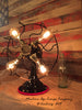 Steampunk Industrial Art Deco Antique Fan Lamp #DC9 - SOLD