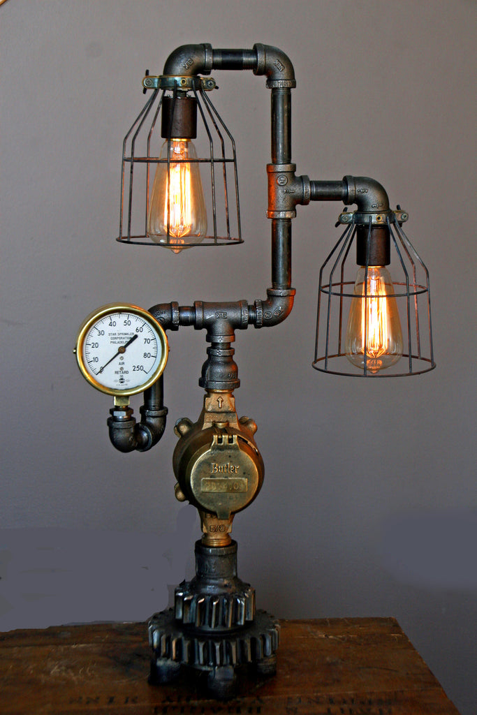 Steam Gauge Lamp #19 - SOLD