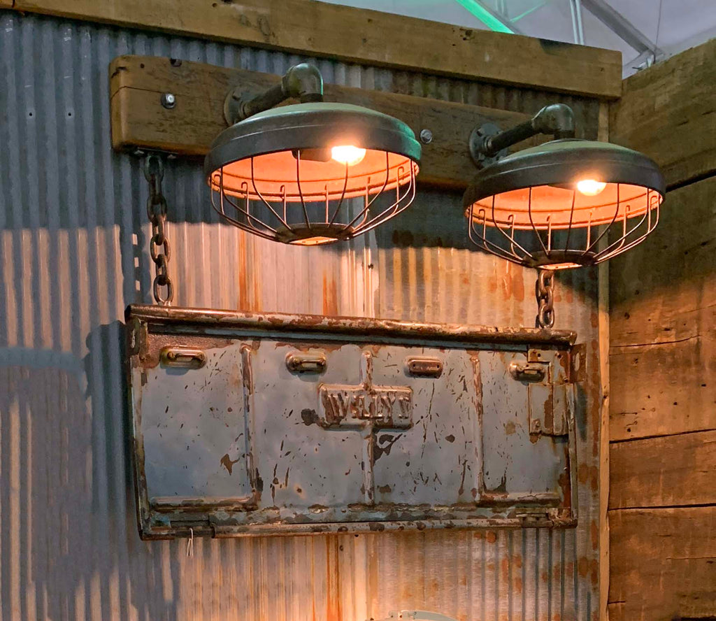 Steampunk Industrial / Willys Tailgate Wall Light / Sconce / Barnwood / Lamp sold