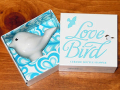 Bottle Stopper - Ceramic Love Bird