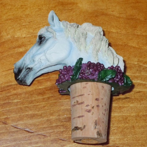 Bottle Stopper - Dapple Grey Horse
