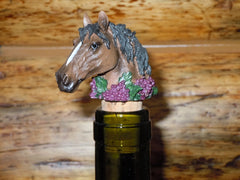 Bottle Stopper - Bay Horse Head
