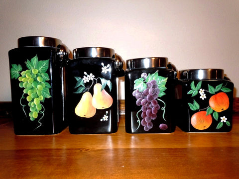 Hand Painted Canisters - Fruit