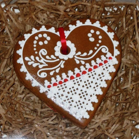 Gingerbread Heart Small A204GBS 3""