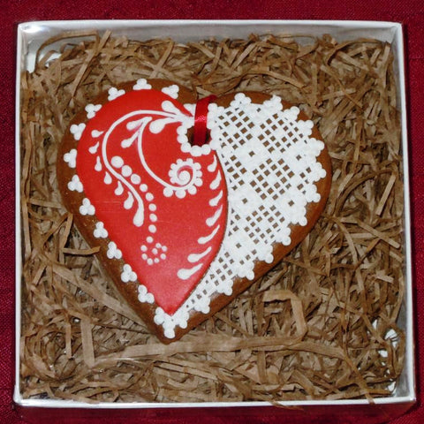 Gingerbread Heart Small A206GBS 3""