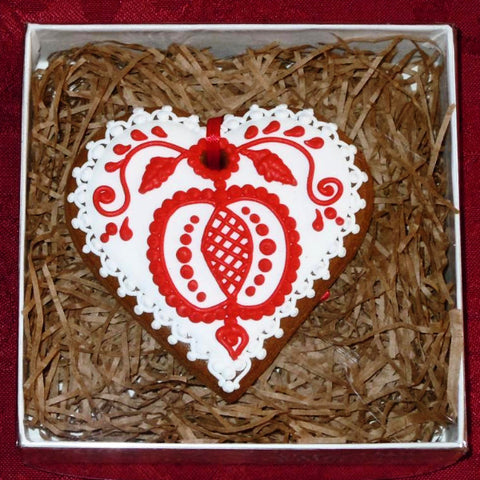 Gingerbread Heart Small A201GBS 3""