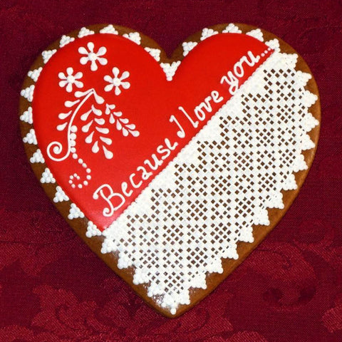 Gingerbread Heart - BecauseI Love You A015GBL 5""
