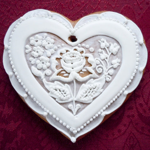 Bohemian Gingerbread Heart A001GBL 5""
