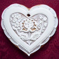 Bohemian decorative gingerbread heart